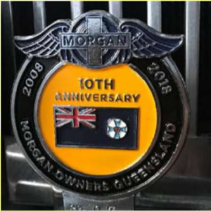 10th Anniversary Morgan Owners club badge